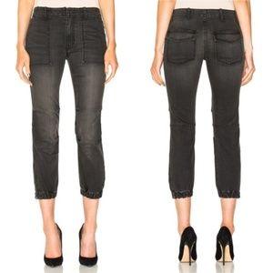 Nili Lotan Cropped Military Pants Black/Charcoal